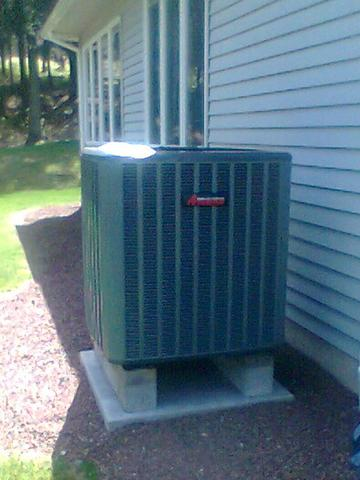 Amana high efficiency 18 SEER 2 stage heat pump