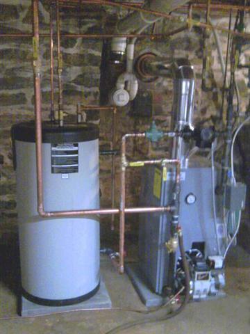 Keystone Utica Enegy oil boiler water storage system
