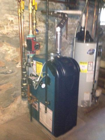 Oil to gas heat conversion