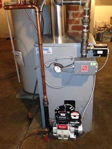 Utica Energy Star Oil Fired Boiler and Water Heater